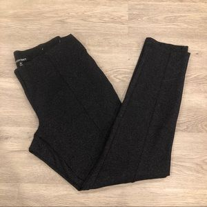 Ellen Tracy Ponte Dark Grey Leggings Size M